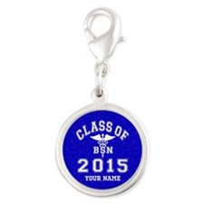 Class Of 2015 BSN Silver Round Charm