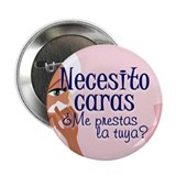 "Necesito Caras B1 2.25"" Button (100 pack)"
