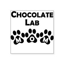 Chocolate Lab Mom Sticker