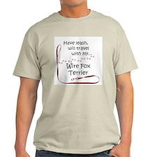 Wire Fox Travel Leash T-Shirt