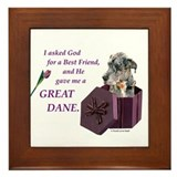 Great Dane (Blue Merle) Framed Tile