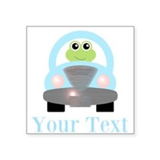 Personalizable Frog Driving Car Sticker