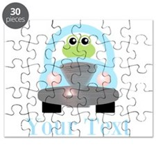 Personalizable Frog Driving Car Puzzle