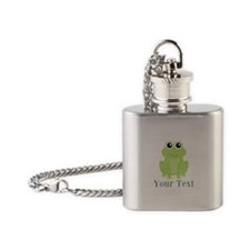 Personalizable Green Frog Flask Necklace