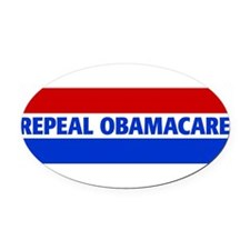 Funny Anti obama care Oval Car Magnet