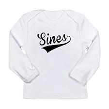 Sines, Retro, Long Sleeve T-Shirt