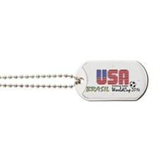 USA Kicking Balls  Dog Tags