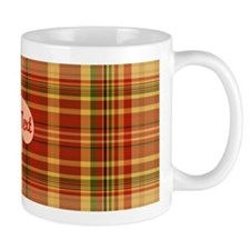 Pizza Plaid Mushroom Small Mug
