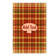 Pizza Plaid Mushroom Postcards (Package of 8)