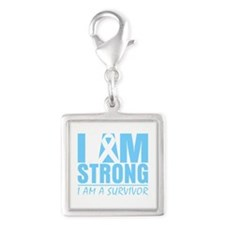Graves Disease Strong Silver Square Charm