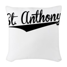 St. Anthony, Retro, Woven Throw Pillow
