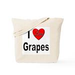 I Love Grapes Tote Bag