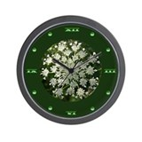 Yarrow Flower Wall Clock