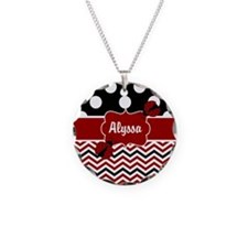 Black Red Ladybug Personalized Necklace