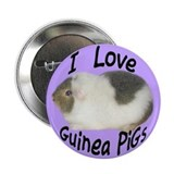 I Love Guinea Pigs #07 Button