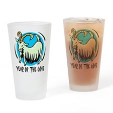 Yr of Goat b Drinking Glass