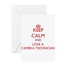 Keep Calm and Love a Camera Technician Greeting Ca