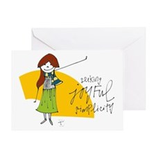 Seeking Joyful Simplicity Greeting Cards