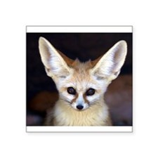 "Cute Fox head Square Sticker 3"" x 3"""