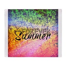 Forever Summer, Abstract Rainbow Typography Throw