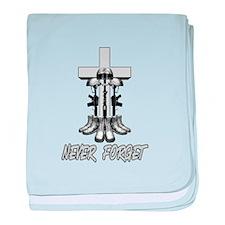 Battlefield Cross baby blanket