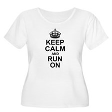 Keep Calm Run On Plus Size T-Shirt