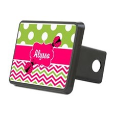 Pink Green Chevron Ladybug Personalized Hitch Cove