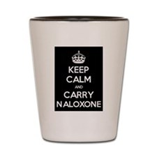 Keep Calm and Carry Naloxone Shot Glass