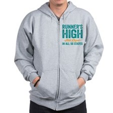 Runner's High. Still Legal. Zip Hoodie