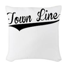 Town Line, Retro, Woven Throw Pillow