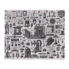 Vintage Physics plates Throw Blanket
