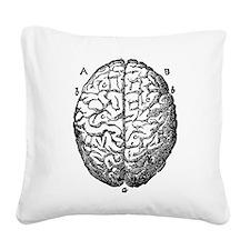 Vintage brain Square Canvas Pillow