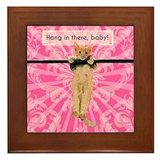 Hang In There Baby Kitten Framed Tile