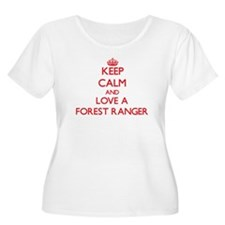 Keep Calm and Love a Forest Ranger Plus Size T-Shi
