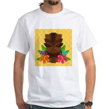 Tiki Head on Yellow T-Shirt