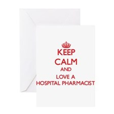 Keep Calm and Love a Hospital Pharmacist Greeting