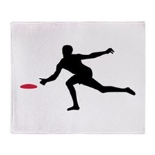 Discgolf player Throw Blanket