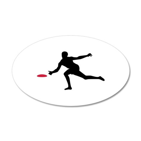 Discgolf player 20x12 Oval Wall Decal