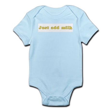 Just Add Milk Blue Infant Bodysuit