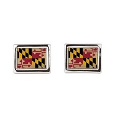 Maryland State Flag VINTAGE Rectangular Cufflinks