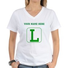 Custom Green Block Letter L T-Shirt