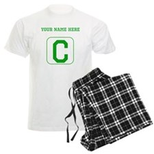 Custom Green Block Letter C Pajamas