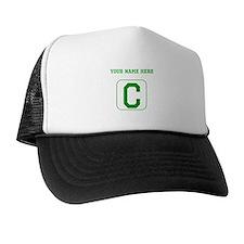 Custom Green Block Letter C Trucker Hat