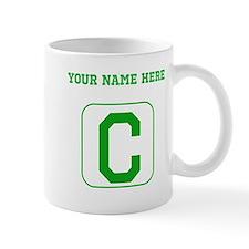 Custom Green Block Letter C Mugs