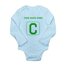 Custom Green Block Letter C Body Suit