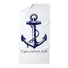 Tybee Island, Ga Anchor Beach Towel