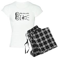 Ride the Trail Bike Graffiti quote pajamas
