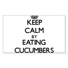 Keep calm by eating Cucumbers Decal