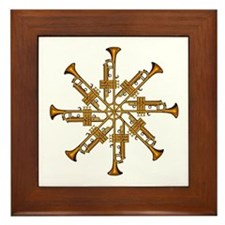 Trumpet Flower Framed Tile