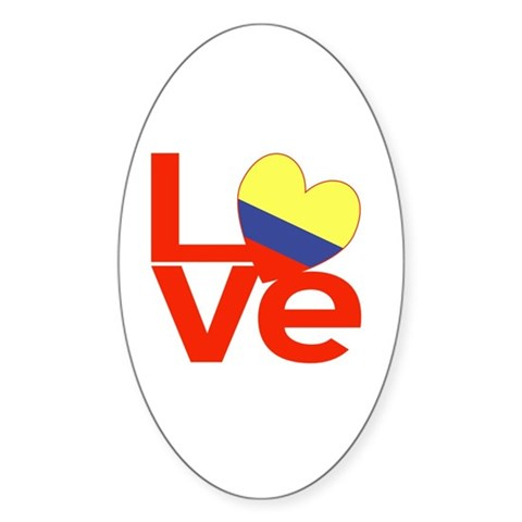 Red Colombia LOVE Sticker